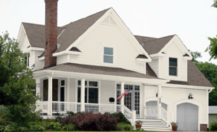 white siding and trim gives a classic feel
